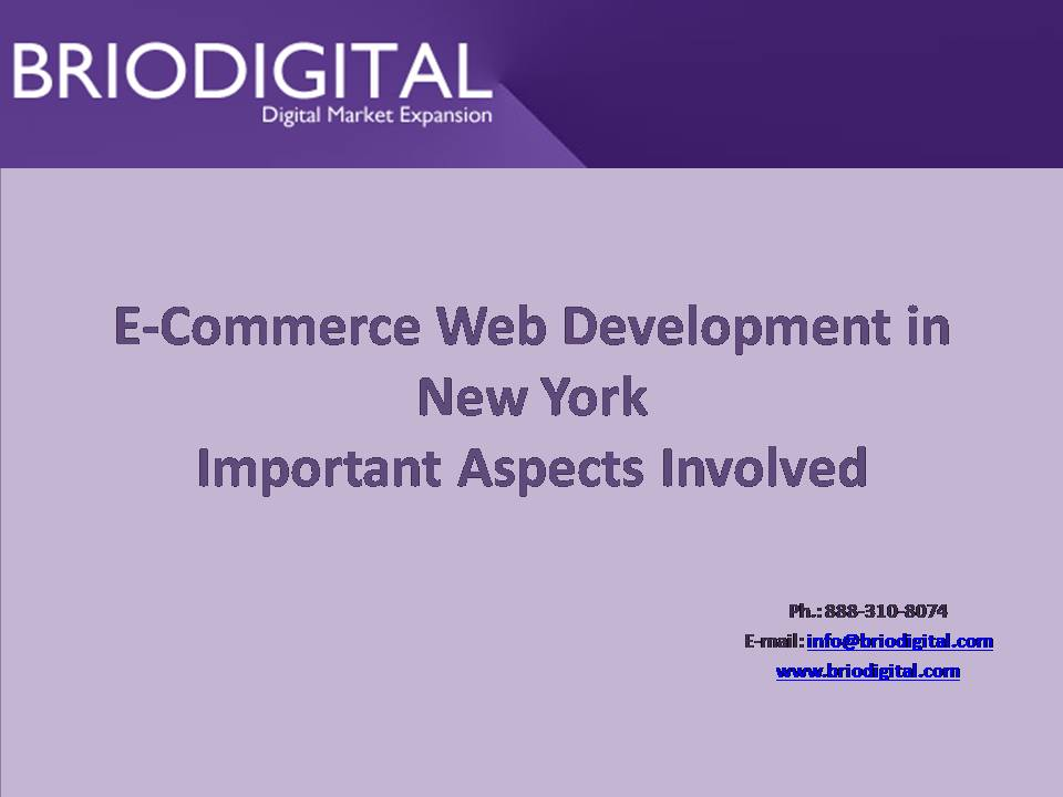 Important Aspects Involved in E-Commerce Website