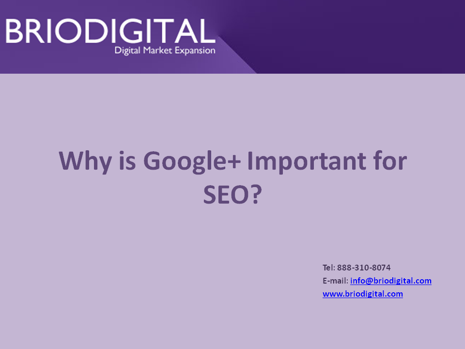 Google+ is Important for SEO